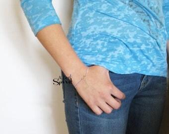 Infinity Tassel Bracelet, Purple Tassel Bracelet, Tiny Tassel Bracelet, Gift for her
