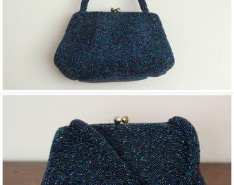 1950s Purse // Walborg Beaded Evening Bag // vintage 50s purse