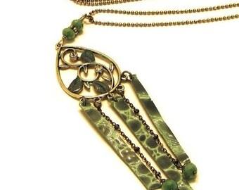 ON SALE Fringe Necklace / Fringe Jewelry / Leather Necklace / Leather Jewelry / Layering Necklace / Long Necklace / Dangle Necklace