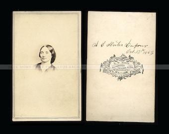 Rare 1860s CDV Photos Washington DC POET Amanda Dufour & Daughter Hevila