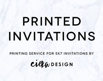 PRINTED 5x7 Invitations with Gold Foil