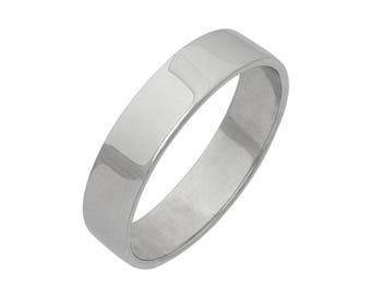 Platinum Wedding Band - Platinum Wedding Ring - Mens Platinum Wedding Band - Womens Platinum Wedding Band -  Plain Wedding Band