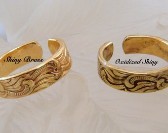 Red Brass Toe Ring or Finger RIng - Customization Available