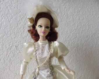 Vintage Jakks Victorian Romance Fashion Doll. Displayed Only.
