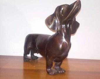 Bronze brass dachshund doxi wiener dog