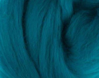 Superfine Merino Wool Top - 19 micron - Cobalt - 4 ounces