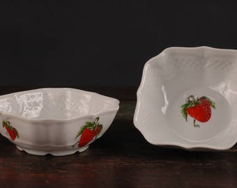 Lourioux Strawberry Bowls by Philippe Deshoulieres, France