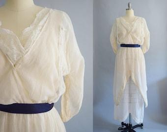 Edwardian Muslin Dress | Size Medium
