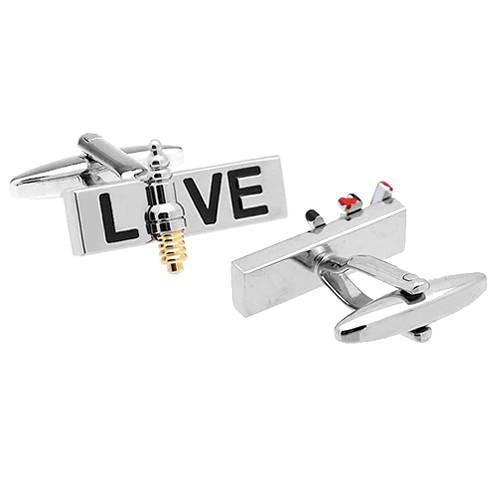 Live Wire / Jumper cable & Spark plug Cufflinks [E10190947031985172M ...