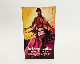 Vintage Gothic Romance Book The Dreamwalker by Janine Fitzpatrick 1975 Paperback
