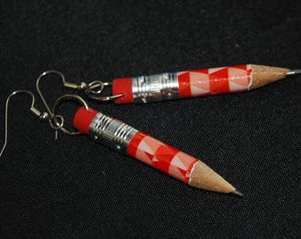 Beautiful Tiny Pencil Dangle Earrings E 80
