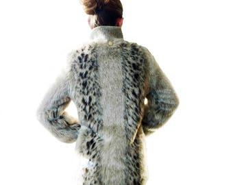 Vintage Monterey Fashions Faux Fur Jacket Worn Twice Mint Condition Size 10 Thigh Length