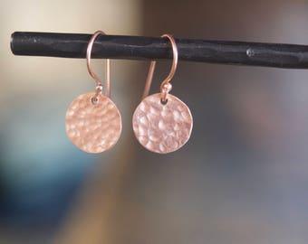 Circle Earrings Rose Gold