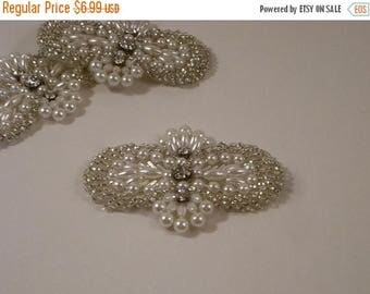 ON SALE Petite Pearl Bead and RhineStone Applique-One Piece