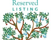 Reserved listing for Elise & Marc