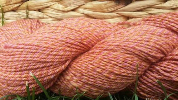 Merino  Yarn , Mauve 3 Ply DK 300 yards per skein spun and dyed  by Spinderellas Creations