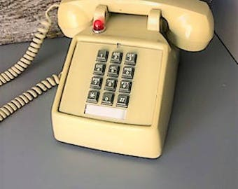 Vintage Push Button Desk Phone