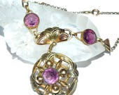 Reserved for Karen   Victorian Amethyst Necklace by Bates & Bacon 1920s