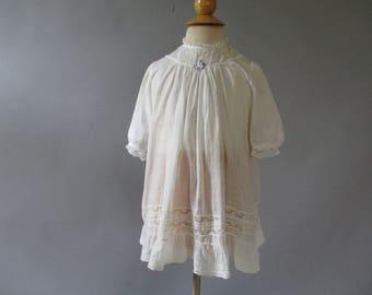 Girls White Dress - Edwardian Toddler Dress - Antique Lace Dress - Size 3 - Flower Girl Dress -Special Occasion Dress