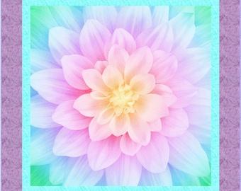 Dream Big Quilt ePattern, 5081-1e, flower panel quilt pattern, flower lap quilt pattern