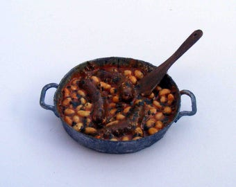 Sausages with bean