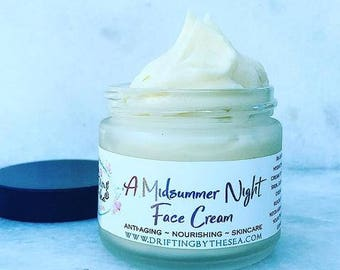 Sample ~ A Midsummer Night Cream ~ Organic Night Cream Moisturizer for Dry Skin ~ Anti-aging Night Cream ~ Sea Buckthorn Cream