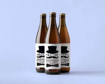 Beer Bottle Labels for the Groomsmen and Best Man - Will you be my Groomsman