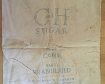 C and H sugar cane sack