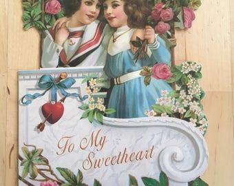 Vintage inspired Sailor Valentine's Day Card