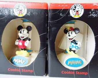 Mickey & Minnie Mouse Ceramic Cookie Stamp, New Vintage Disney