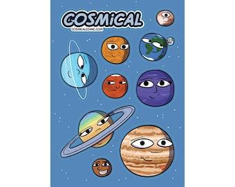 Cosmical Sticker Sheet