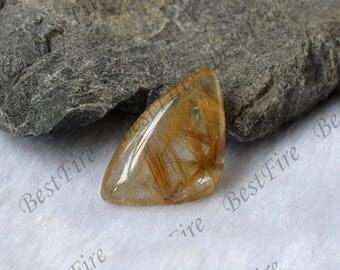 Charm hairstone golden Transparent Quartz,Gold Rutilated Quartz,lodolite quartz,semi-precious stone pendant