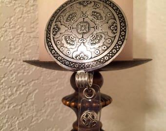 Silver Oriental design lanyard