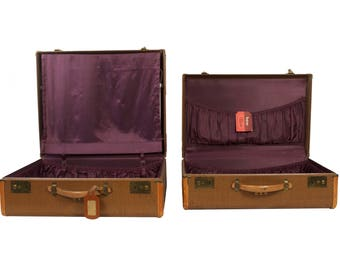 Set of Two Vintage Suitcases