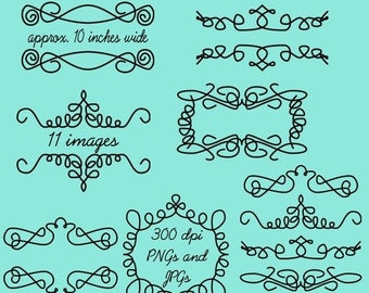 BACK TO SCHOOL Sale Doodle Frames Clip Art Clipart Doodle Flourishes Clip Art Clipart - Commercial and Personal