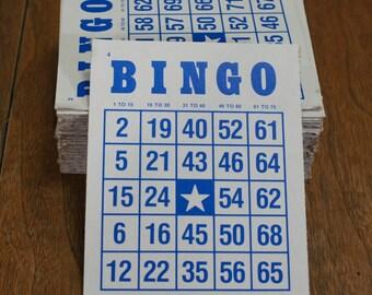 Vintage Bingo Cards Lot 100