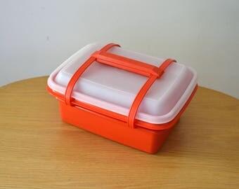 Tupperware Orange Lunchbox NOS