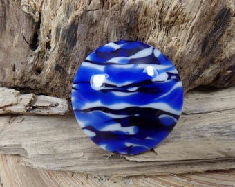 MADE TO ORDER Big Lentil Lampwork Glass Bead Handmade, make a pendant, jewelry supplies
