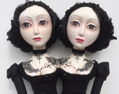 OOAK Conjoined Twins Art Doll