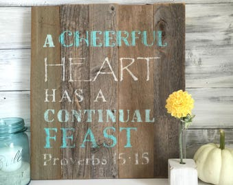 Barn wood sign, rustic farmhouse decor, Christian Art, Bible verse, one of a kind, made in Ohio