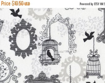 SALE 10% Off - BIRDCAGE in Charcoal  372 - ASHE - Dear Stella Design Fabric - 1 Yard