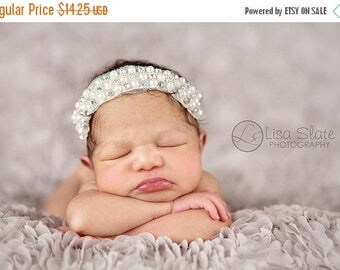 10% SALE Baby headband, newborn headband, adult headband, child headband and photography prop The single sprinkled- QUEENIE  headband