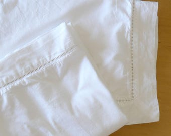 Linen Source Pair of Solid White Tailored Euro Shams 100% Cotton