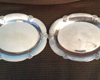 Vintage William Roges, Silverplate, Oval Serving Trays, No. 411, Platter, Wm. Rogers, Set of 2, signed