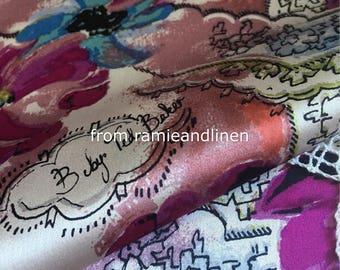 "designer silk fabric,100% silk crepe satin fabric, Silk Charmeuse Fabric, half yard by 54"" wide"