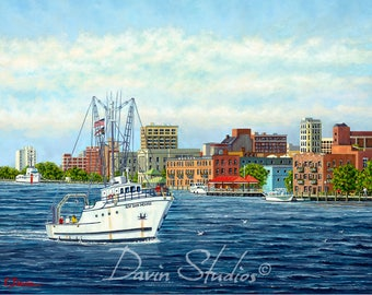 RV Dan Moore, Wilmington, NC, Riverfront, Downtown Wilmington, NC Painting