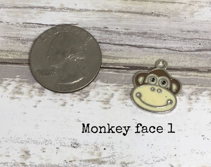 Monkey charm necklace