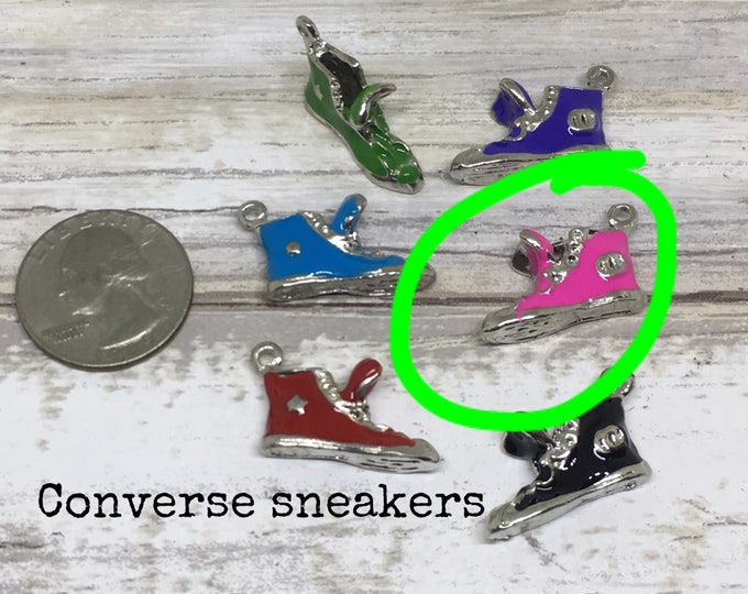 Shoe charm necklace PINK