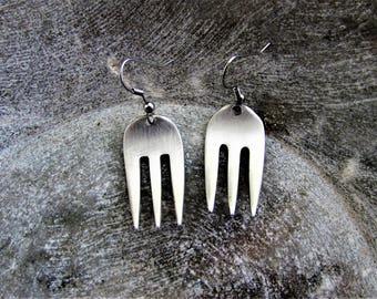 Upcycled Fork Earrings