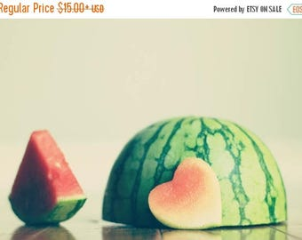 Food Photography Kitchen art: Summer melon Fine Art Heart Kitchen, decor fruit still life photography fruit wall Kitchen wall art fruit